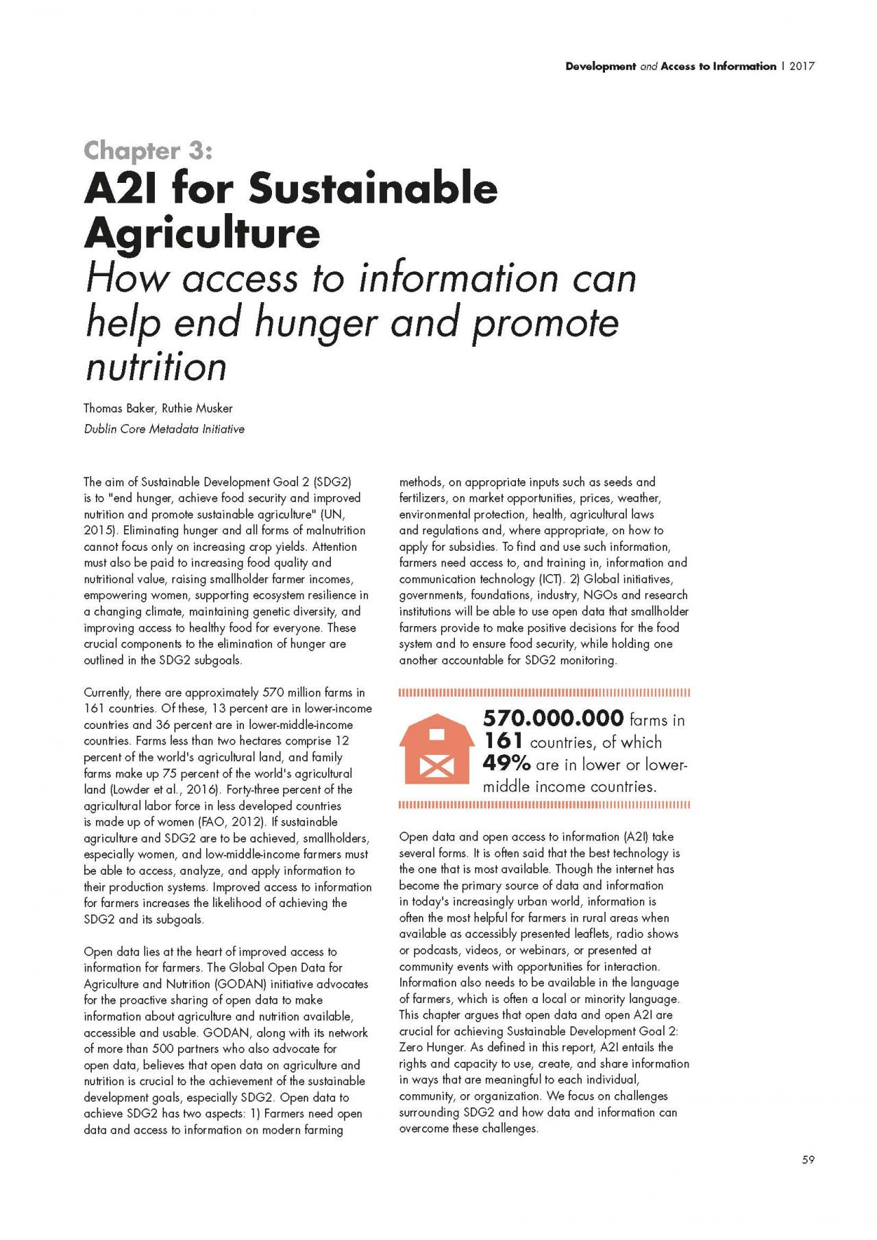 Chapter 3: A2I for Sustainable Agriculture: How access to information can help end hunger and promote nutrition