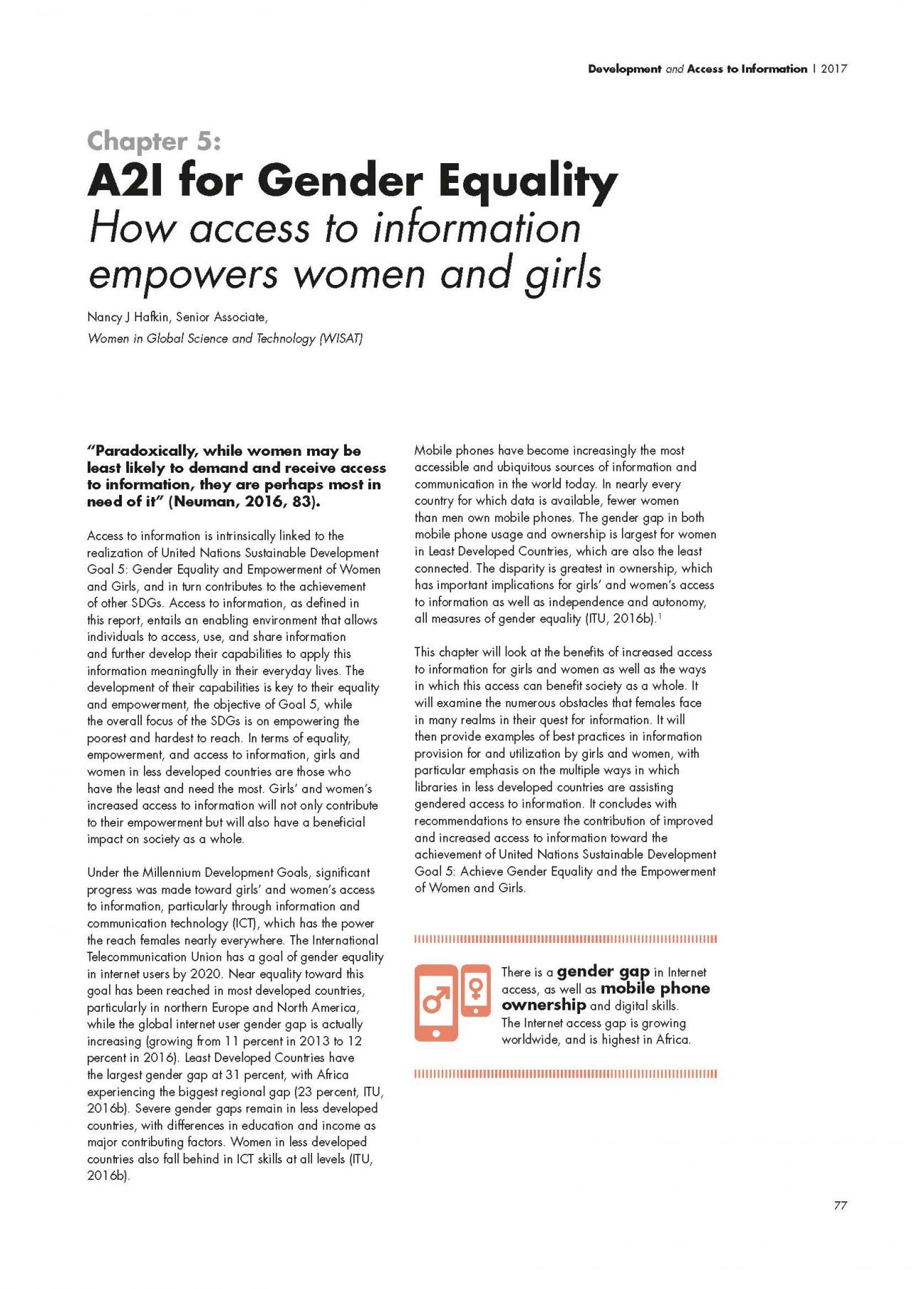 Chapter 5: A2I for Gender Equality: How access to information empowers women and girls